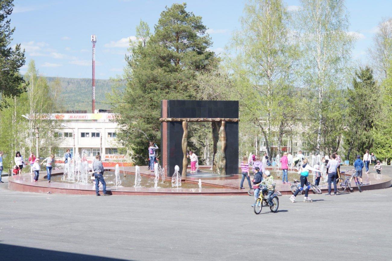 Качканар, фонтан у Дворца культуры