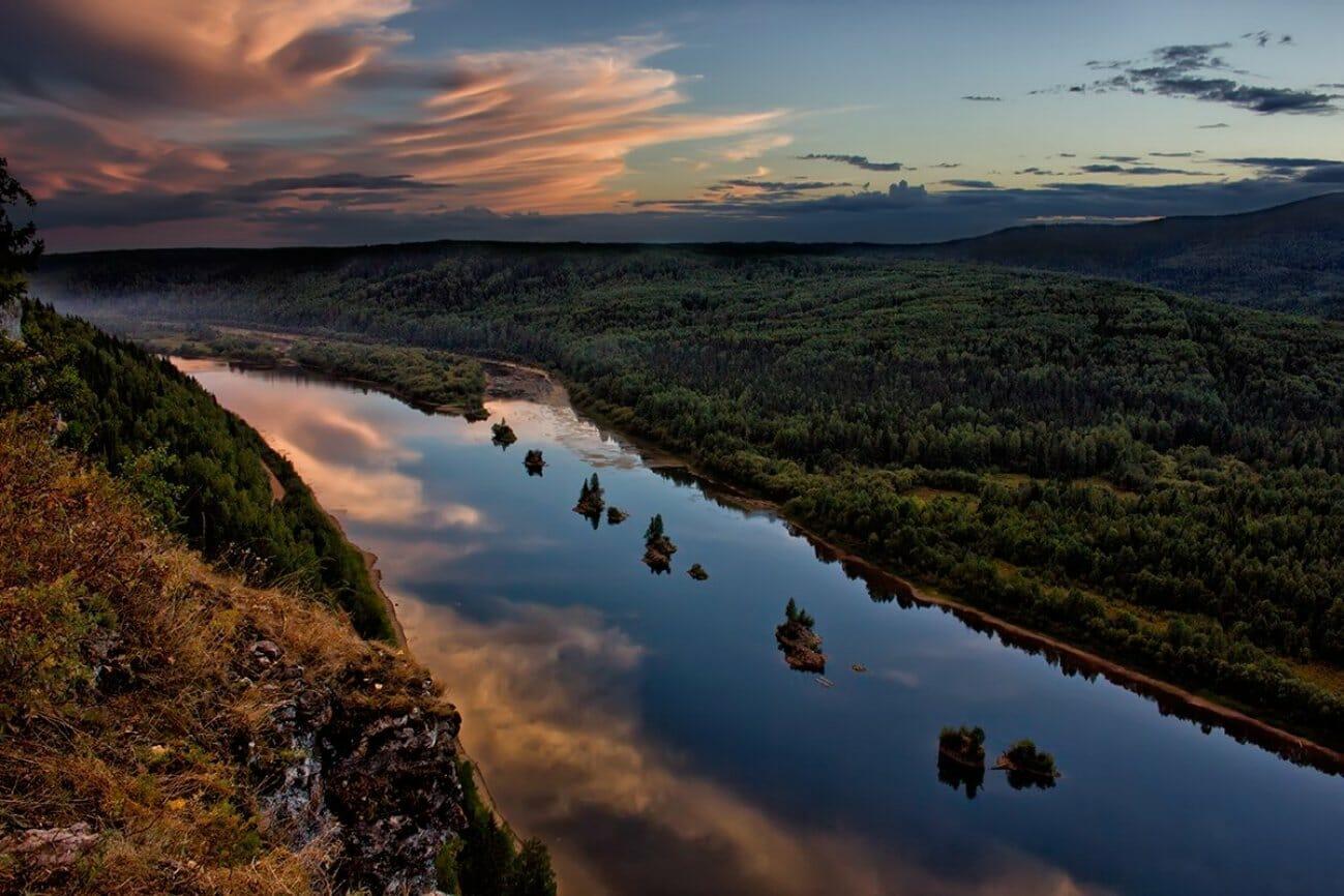 Островки на реке Среднего Урала