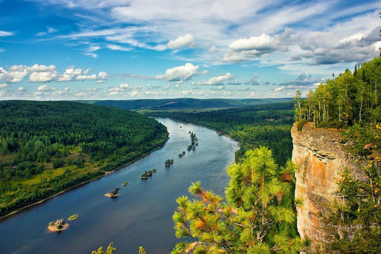 Средний Урал река Вишера