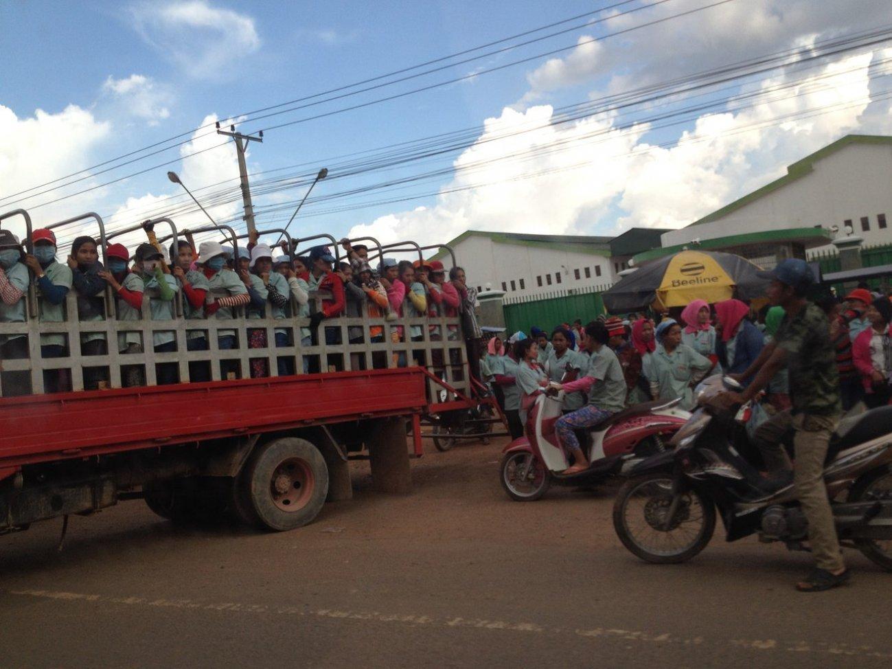Камбоджийцы в машине