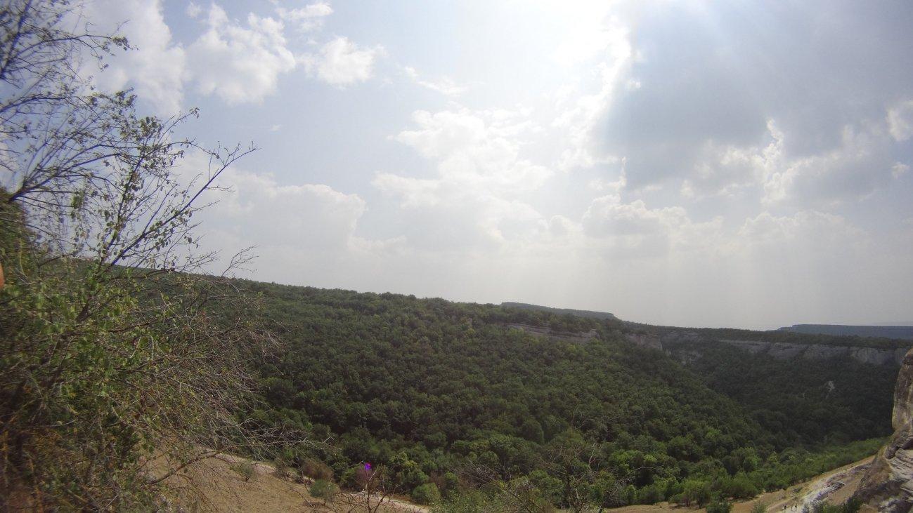 Долина с высоты на горе