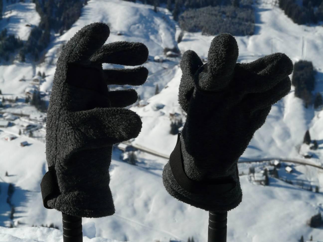 Туристические перчатки из флиса