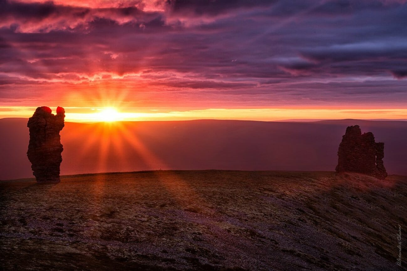 Великолепный закат на Маньпупунере