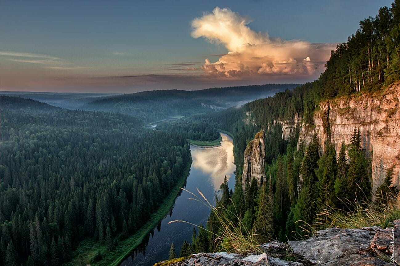 Скалы и реки Урала