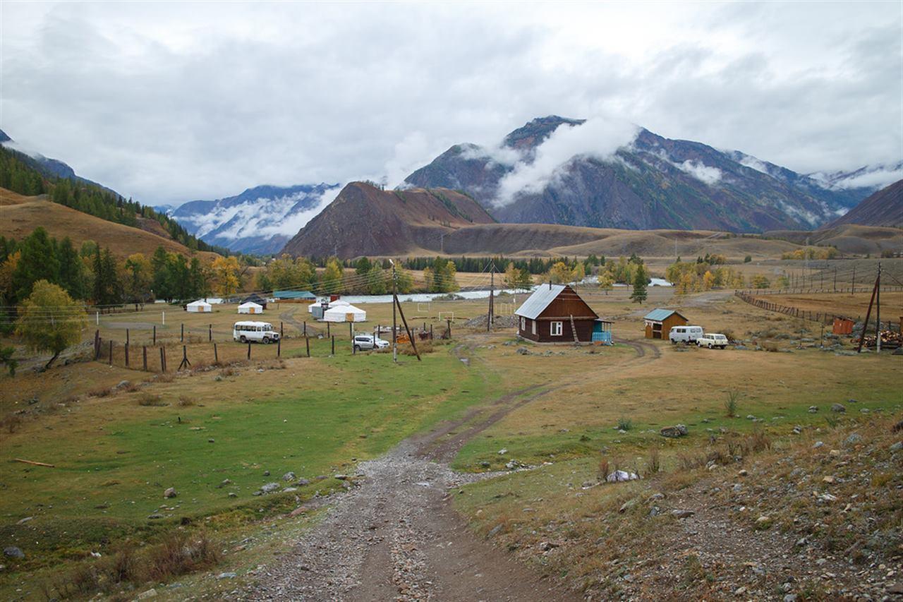 Дома в деревне на Горном Алтае