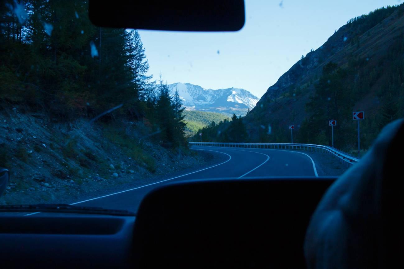 Поездка по дороге в поход