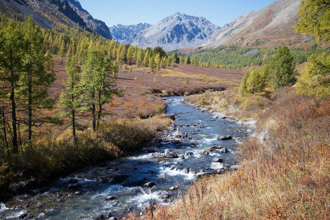 Бурная высокогорная река