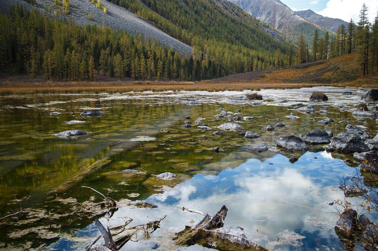 Алтай и горное озеро