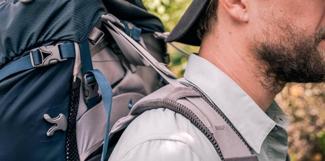 Рюкзак с настраиваемой спинкой и ремнями