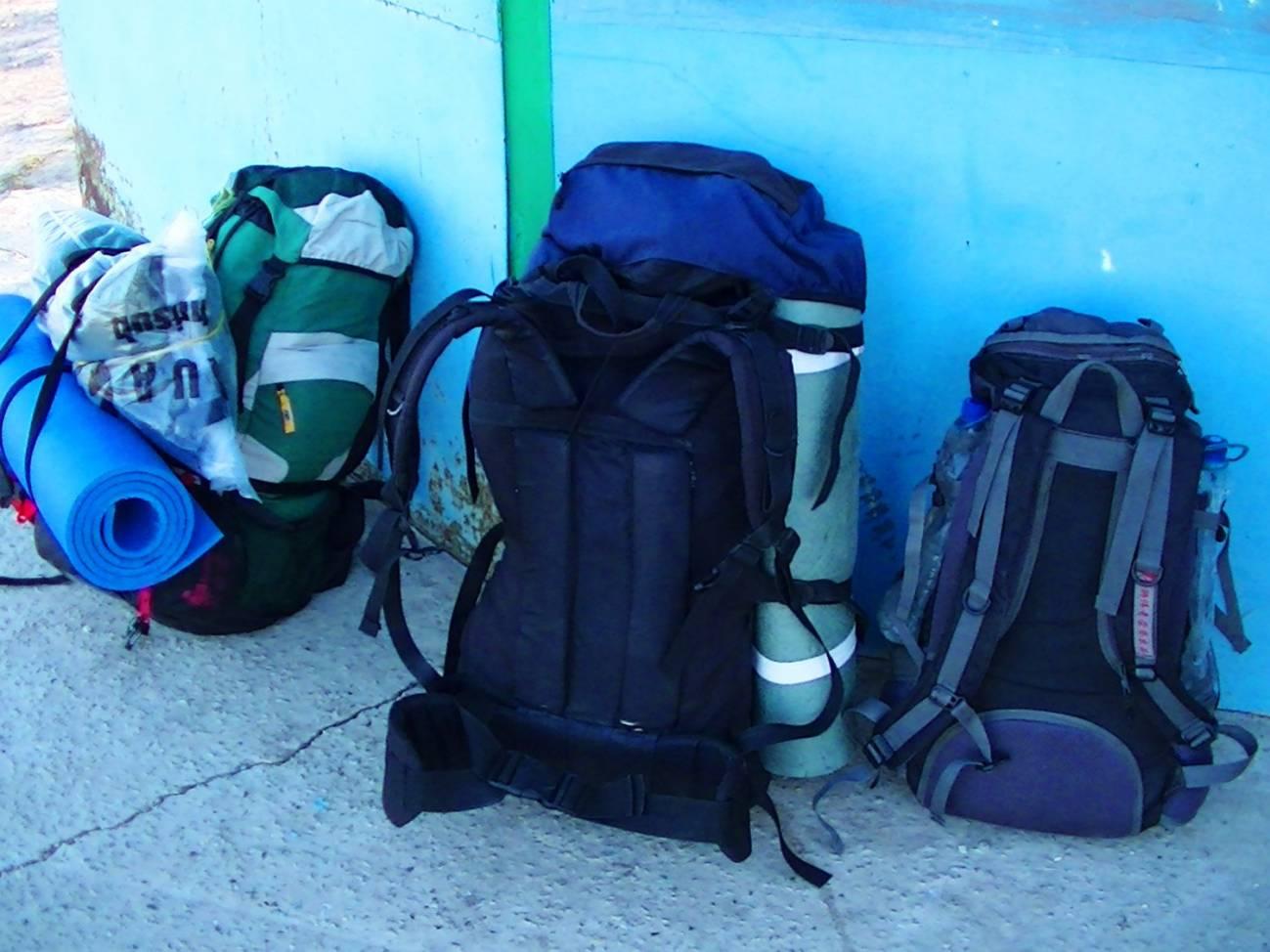 Туристические рюкзаки готовы к путешествию