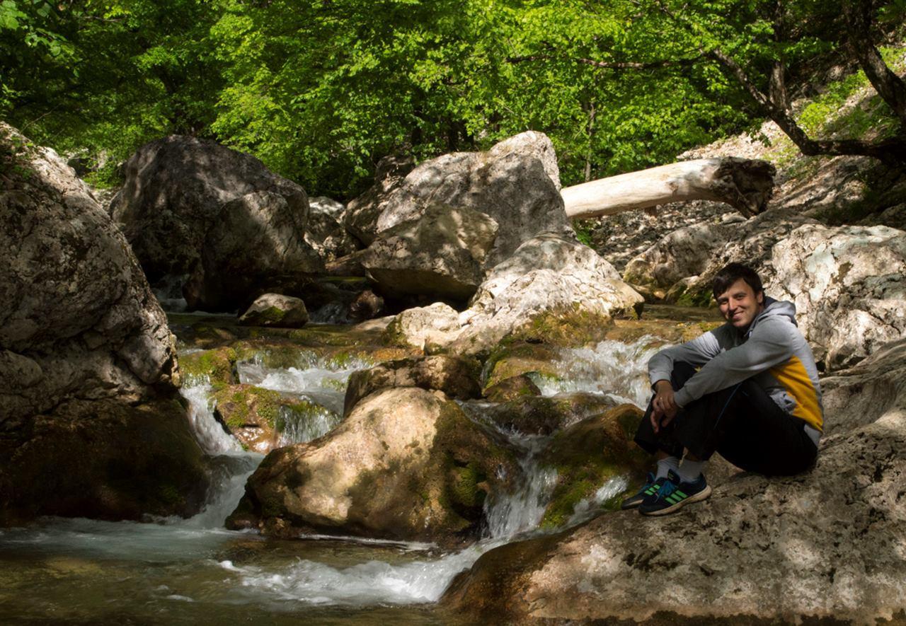 Путешествие в лесу возле реки