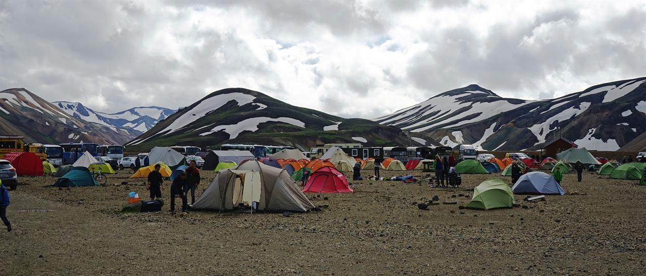 Туристический лагерь в походе