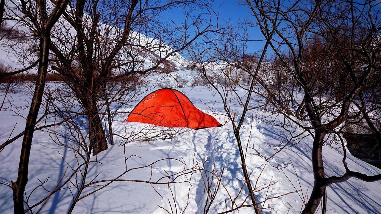 Поход зимой и палаткой по Камчатке