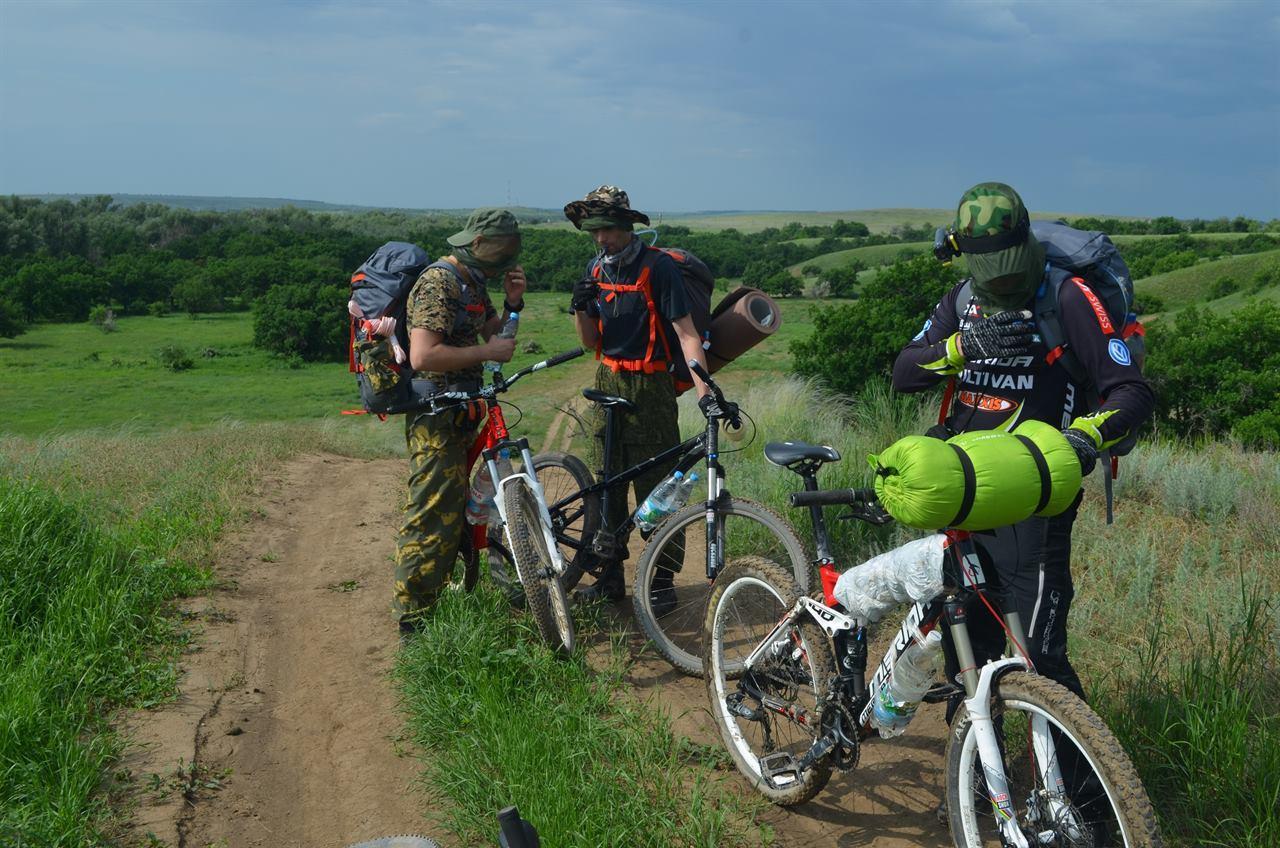 Велопоход с друзьями по Волгоградской области на велосипедах
