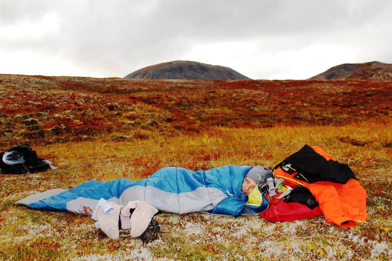 Отдых в спальном мешке на Камчатке