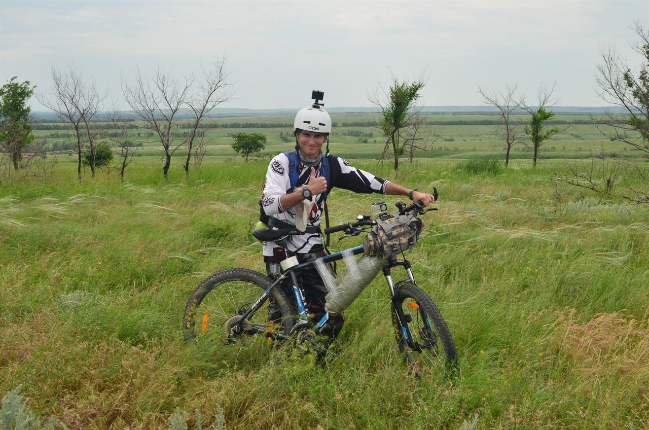 Велопоход с видеокамерой на каске