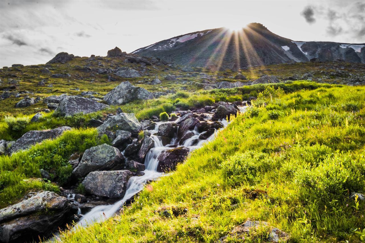 Восход солнца на Северном Урале