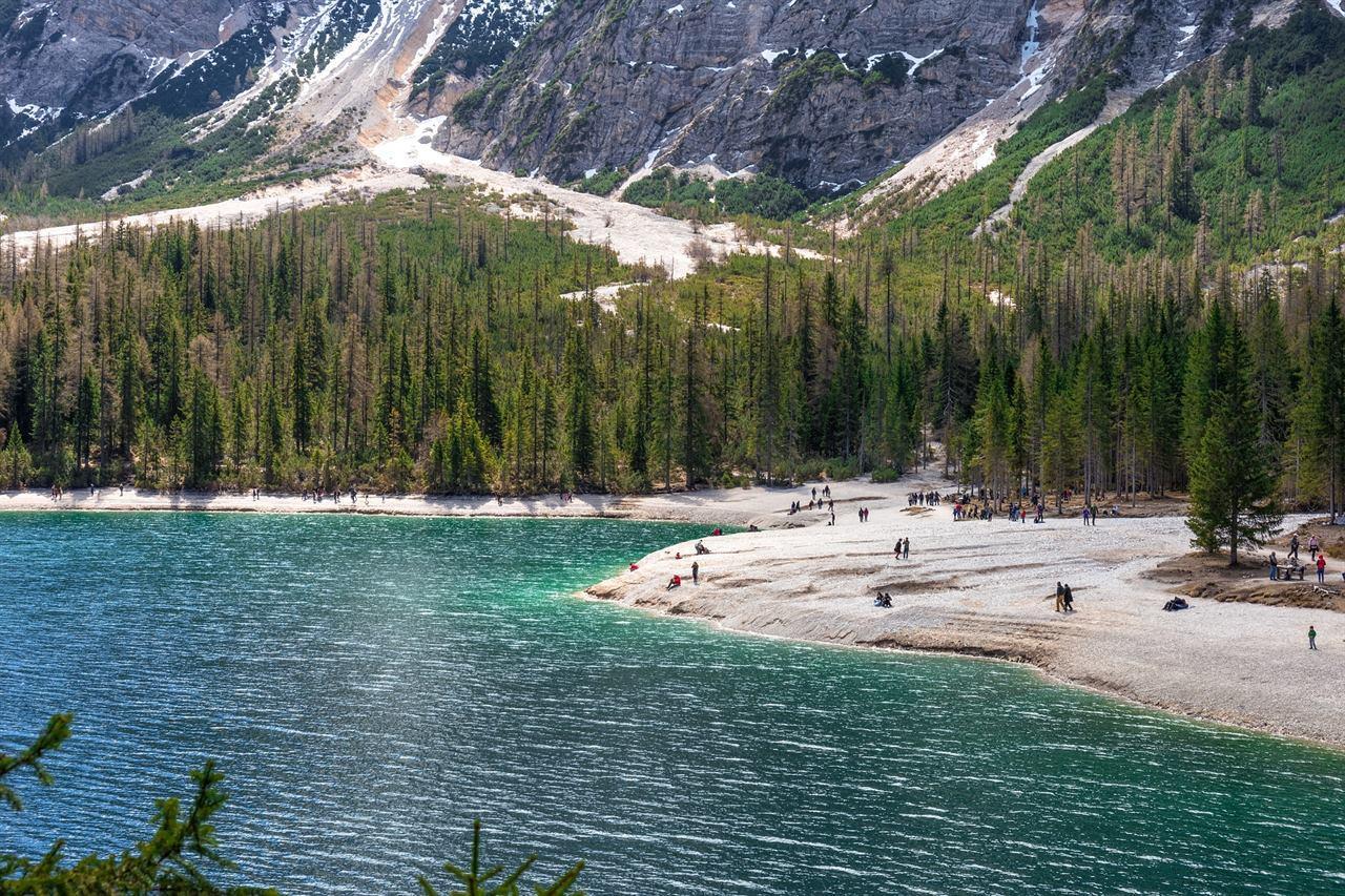 Отдых в горах у озера в компании