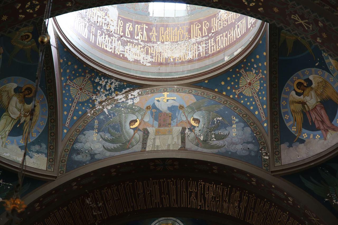 Расписные стены Ново-Афонский монастырь Абхазия