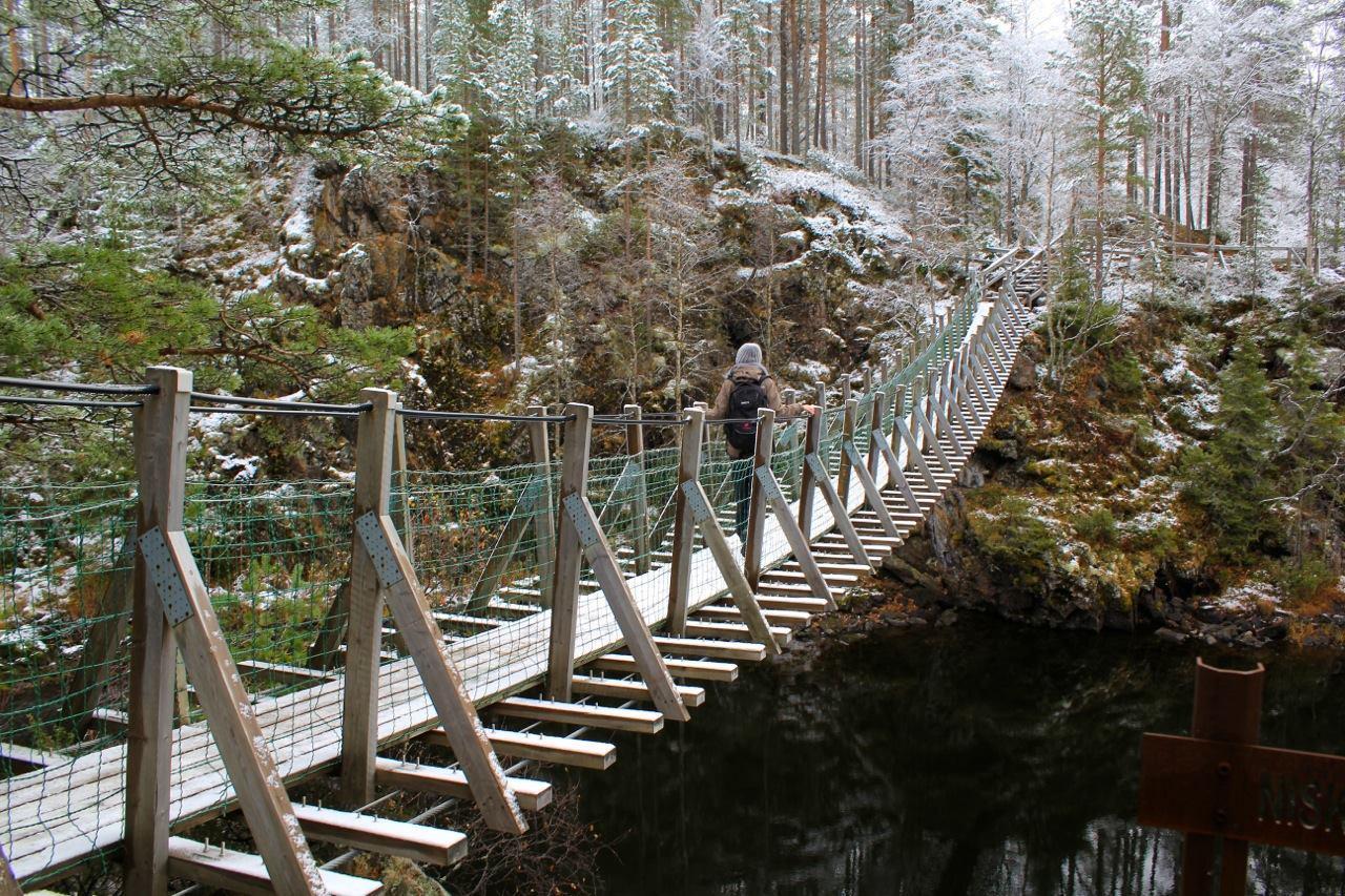 Подвесной мост Оуланка