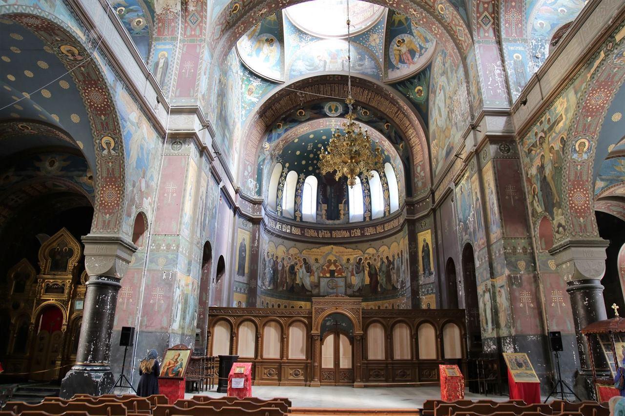 Монастырь роспись стен Новый Афон Абхазия