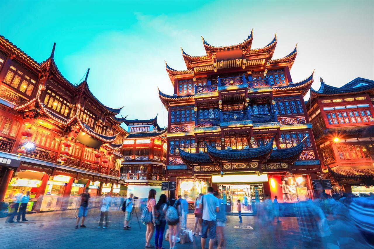 Китай парк Юй Юань в Шанхае