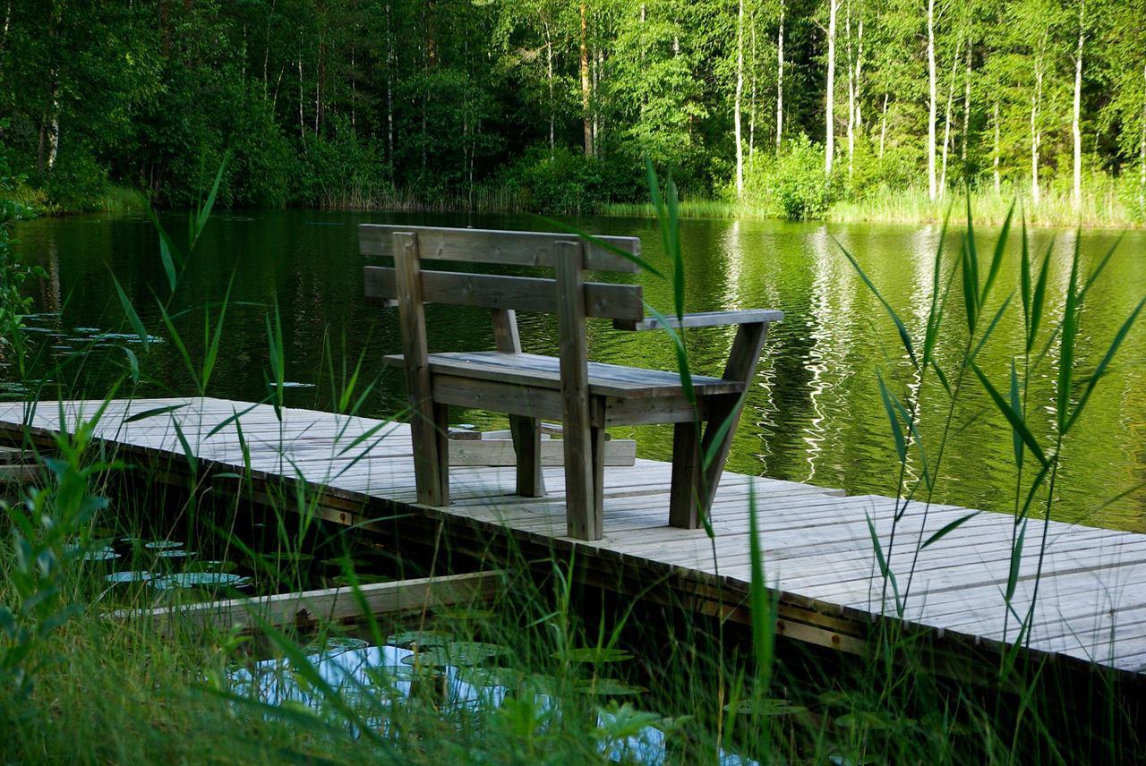 Скамейка у озера Финляндия