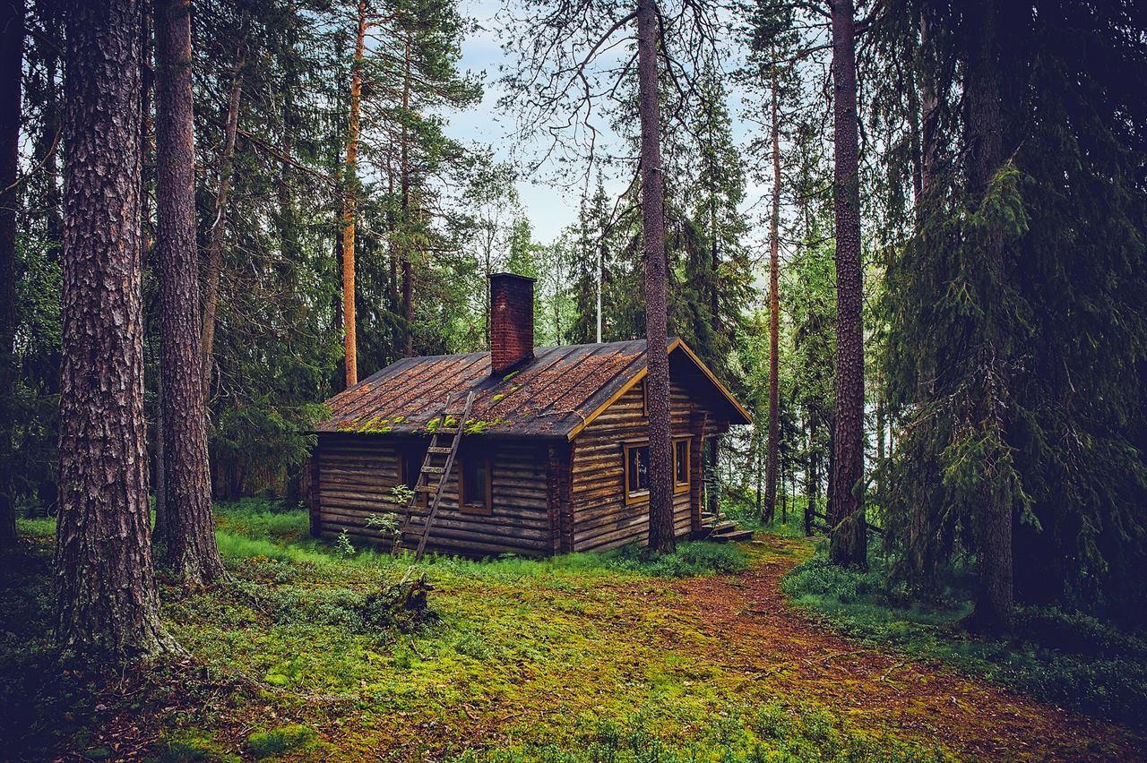 Домик в лесу в Оуланке
