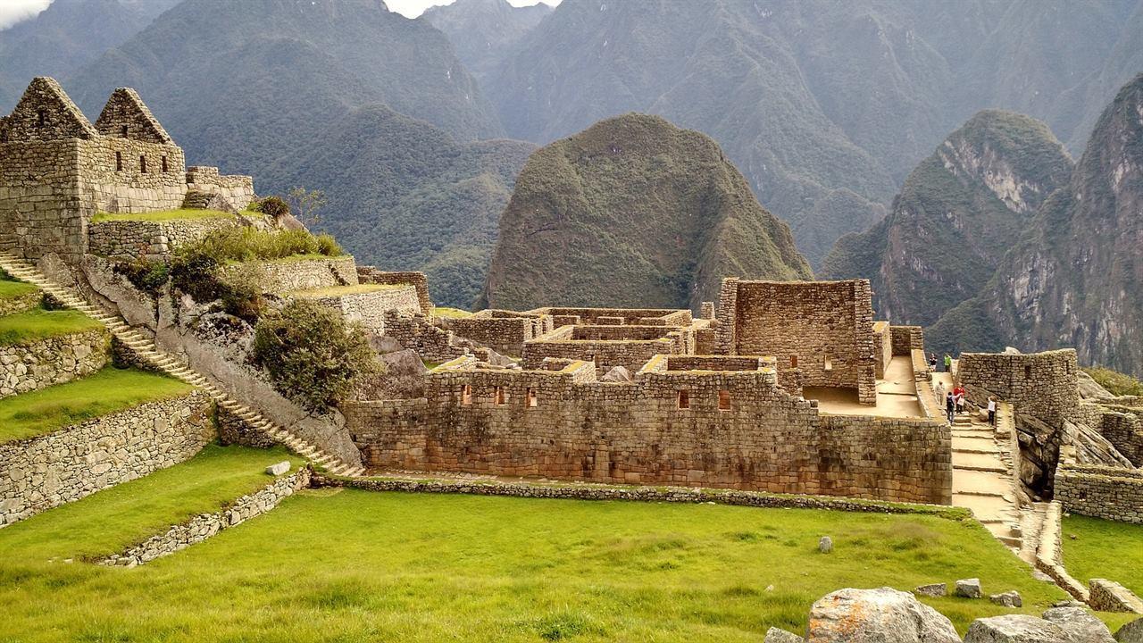 Постройки в древнем городе Мачу-Пикчу