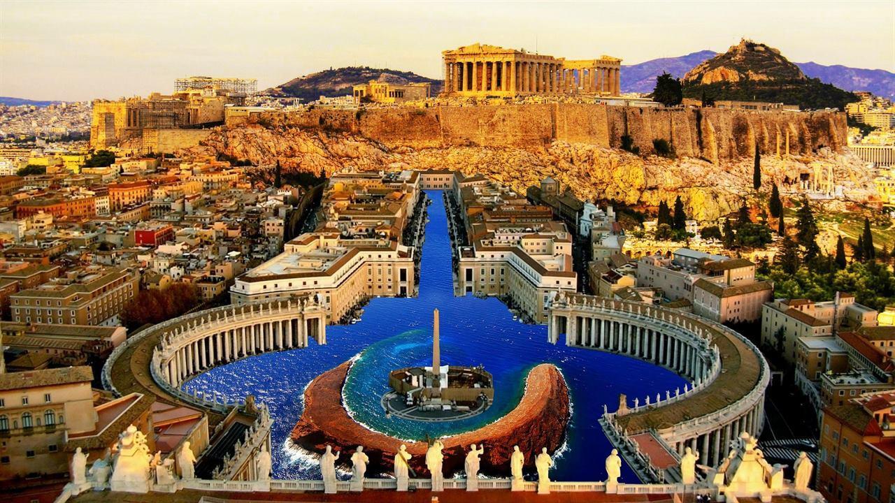 Величественные древние Афины