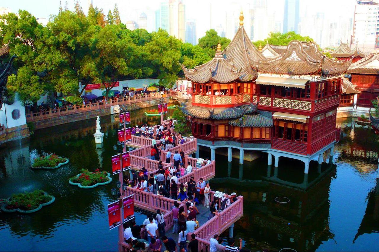 Экскурсия по саду Юй Юань Шанхай Китай