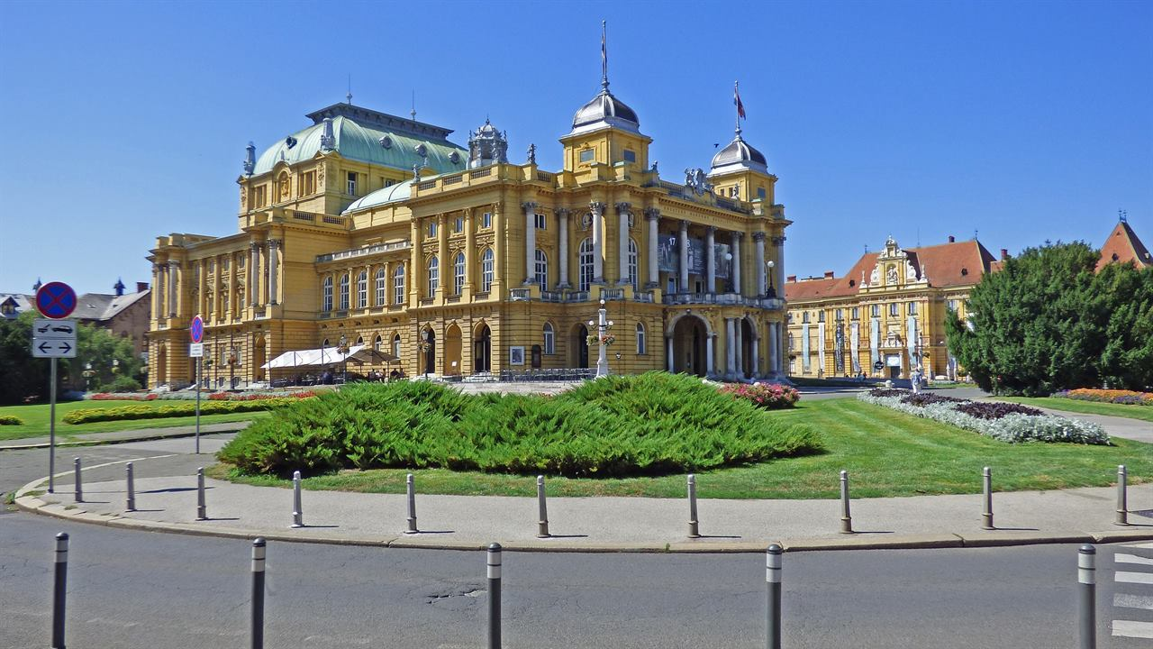 Хорватия Загреб дворец