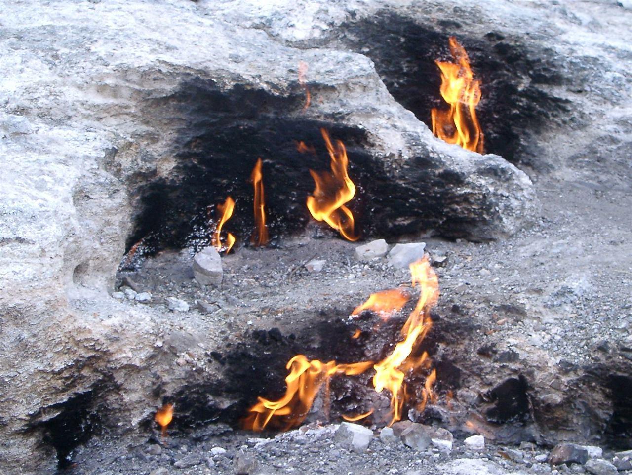 Огненная гора в Турции