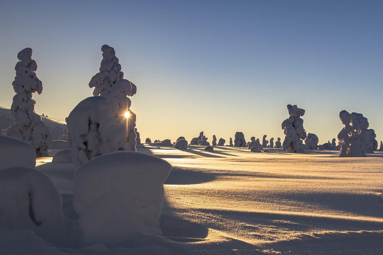 Суровая Финляндия зимой