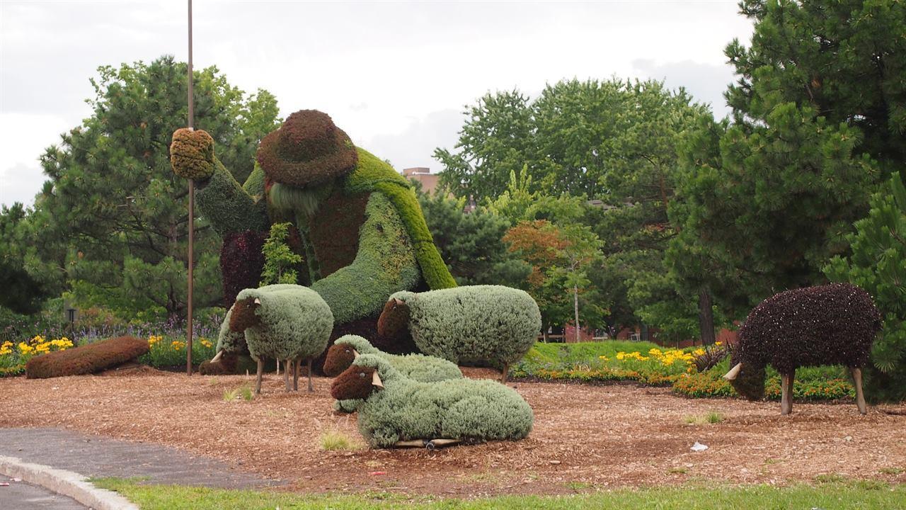 Монреаль парк статуи
