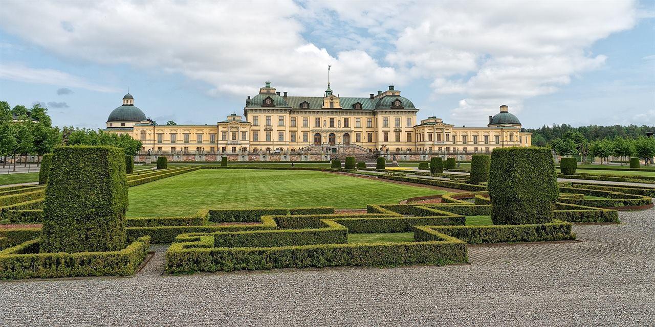 Сад в королевском дворце Стокгольм Швеция