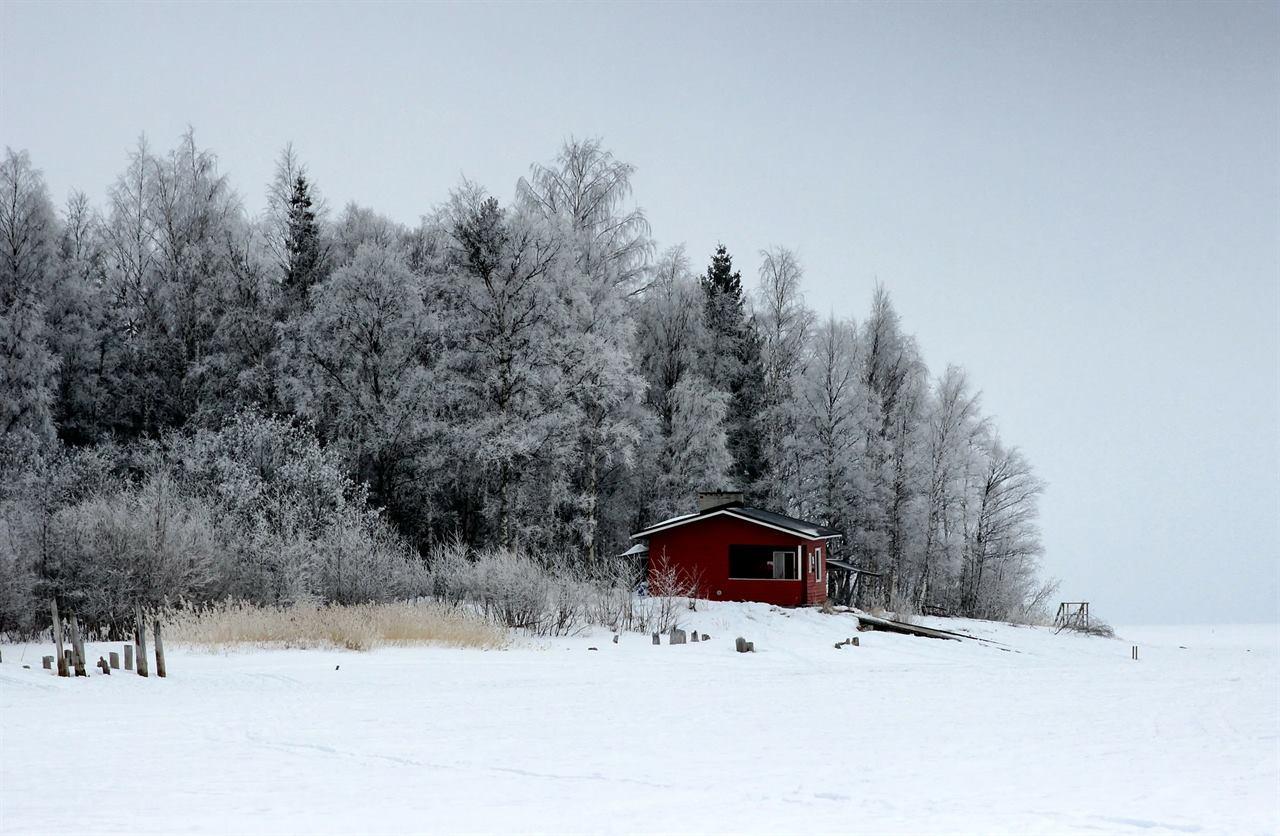 Зимний домик в Финляндии