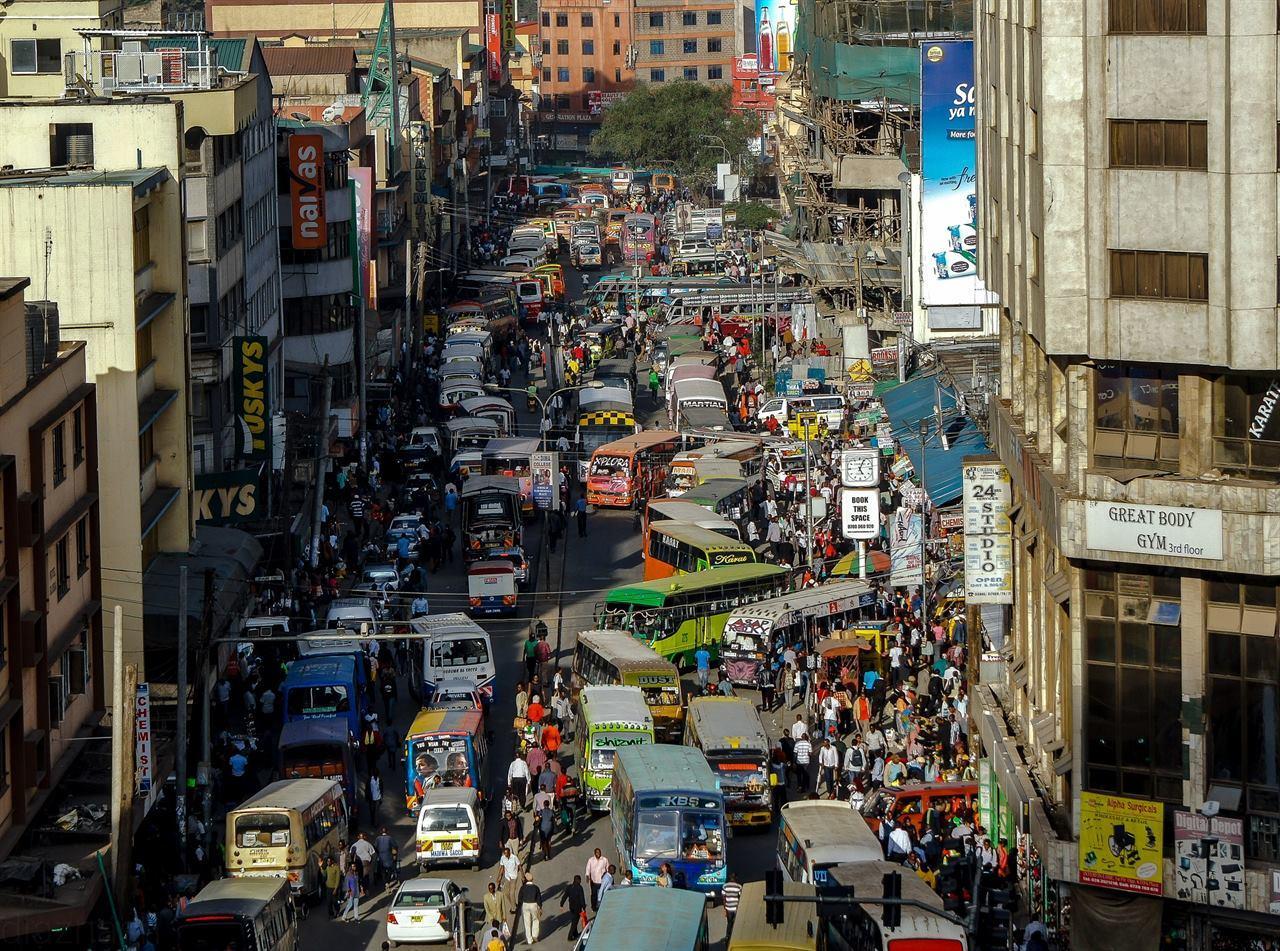Городские улицы Африки Конго