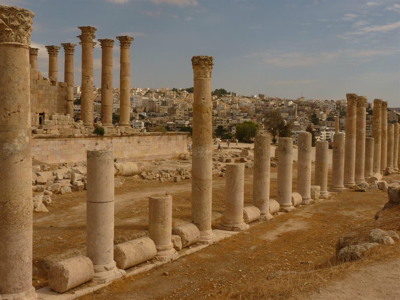 Библейские развалины Иордания