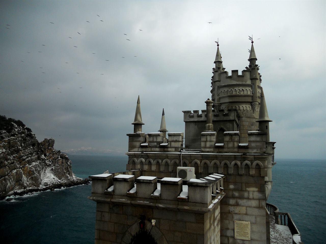 Крым Ласточкино гнездо зимой