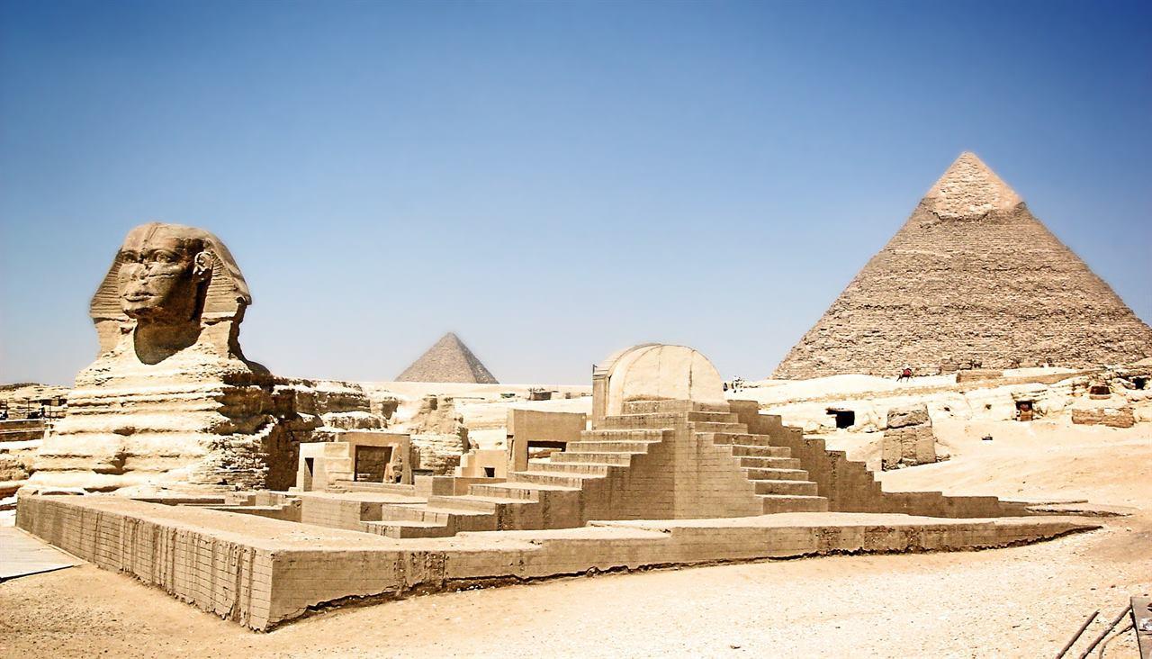 Великая Гиза Сфинкс и Пирамиды