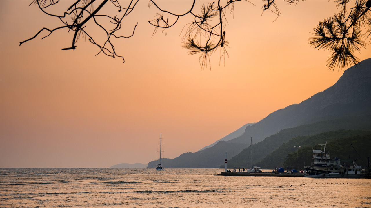 Закат море Турция Мармарис